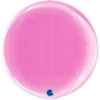 """Fushia 15"""" 4D Globe"""