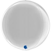 "Silver 15"" 4D Globe"