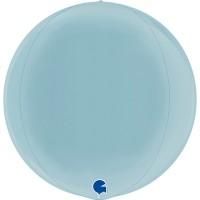 "Globe 15"" Pastel Blue 4D Globe"
