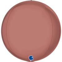 "Globe 15"" Platinum Rose 4D - Globe"