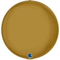 """Satin Gold 15"""" 4D Globe"""