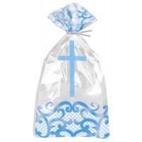 Fancy Blue Cross Cello Bags 20ct