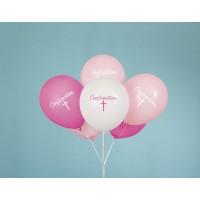 "Fancy Pink Cross 12"" Confirmation Latex 8ct"