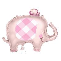 """Pink Elephant 29"""" Foil Balloon"""