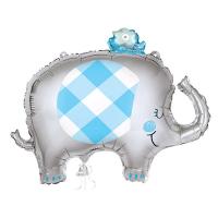 "Blue Elephant 29"" Foil Balloon"