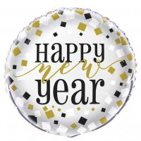 "Happy New Year - 18"" Foil Balloon - Flat 12 (Unpackaged)"