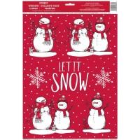 Snowman Window Clings Sheet 6ct