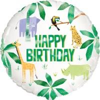 "Happy Birthday Safari Animals 18"" Foil Balloon"