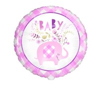 "Pink Baby Elephant 18"" Foil Balloon"
