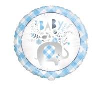"Blue Baby Elephant 18"" Foil Balloon"