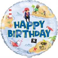 "Happy Birthday Pirate Islands 18"" Foil Balloon"