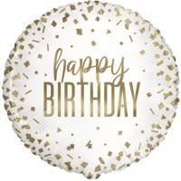 "Happy Birthday Gold Confetti 18"" Foil Balloon"
