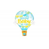 """Welcome Baby Blue Hot Air Balloon Supershape 42"""""""