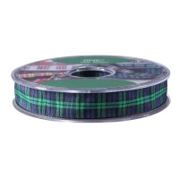 Black Watch Satin Tartan Ribbon (15mm x 20m)