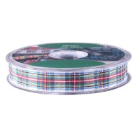 Dress Stewart Satin Tartan Ribbon (15mm x 20m)