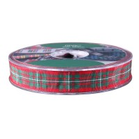 Macgregor Satin Tartan Ribbon (15mm x 20m)
