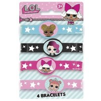 LOL Surprise Stretchy Bracelets 4ct