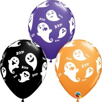 "Emoticon Ghost 11"" Orange, Onyx Black & Purple Violet (25CT)"