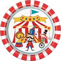 "Circus Carnival 7"" plates 8ct"