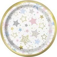"""Twinkle Twinkle Little Starr 7"""" Foil Plates 8ct"""
