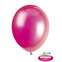 "12"" Fuchsia Crystal - Helium Quality Balloon 10 CT."