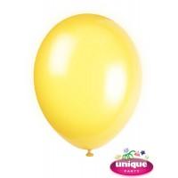 "12"" Lemon Yellow Crystal - Helium Quality Balloon 10 CT."