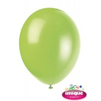 "12"" Neon Lime - Helium Quality Balloon 10 CT."