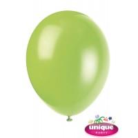 "12"" Neon Lime - Helium Quality Balloon 10 CT."