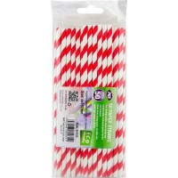 Paper Party Straws 6x197mm 50pcs