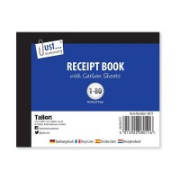 Receipt Books Half Size 80 Set - Box of 12