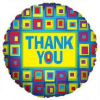 "Thank You - Squares (Flat) - 18"" foil balloon"