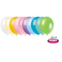 "12"" Pastel Colour Assortment - Helium Quality Balloon 10 CT."