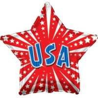 "Star Shaped USA 17"" Foil Balloon"