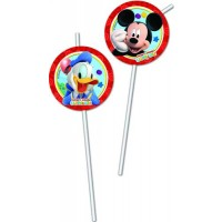 Medallion Flexi Drinking Straws - Playful Mickey