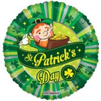 St Patricks Day Scene - 18 inch Foil Balloon