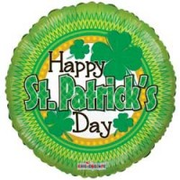 St Patricks Day Shamrock - 18 inch Foil Balloon