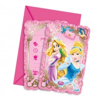 Princess & Animals Invitations 6CT.