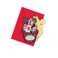 Minnie Cafe Die Cut Invitations 6ct