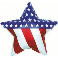 "Patriotic Star 31"" Foil Balloon"
