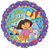 "Dora Birthday Feliz Cumpleanos 18"" Foil Balloon"