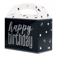 Black/Silver Glitz Party Box 6ct