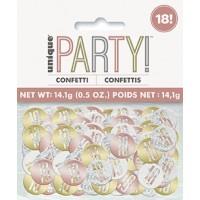 Rose Gold Glitz Foil Age 18 Confetti 0.5 oz