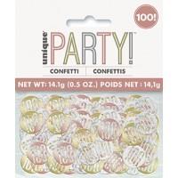 Rose Gold Glitz Foil Age 100 Confetti 0.5 oz