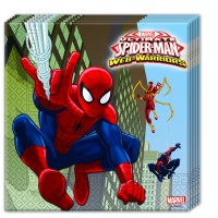 Two-Ply Paper Napkins 33 x 33cm - Ultimate Spider Man Web Warriors