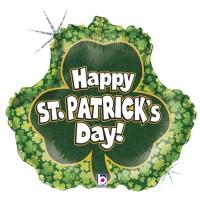 "St. Patrick's Shamrock 18"" Foil Balloon"