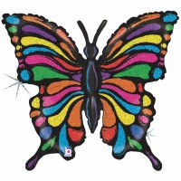 """Pop art Butterfly 33"""" Foil Balloon GRABO"""