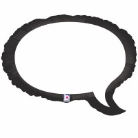 "Speech Bubble 24"" Foil Balloon Betallic"