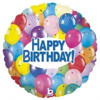 "Happy Birthday Party Balloons 18"" Foil Balloon"