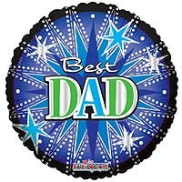 Best Dad Jumbo Shape - 36 inch Foil Balloon