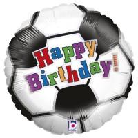 "Happy Birthday Soccer Theme 18"" Foil Balloon"